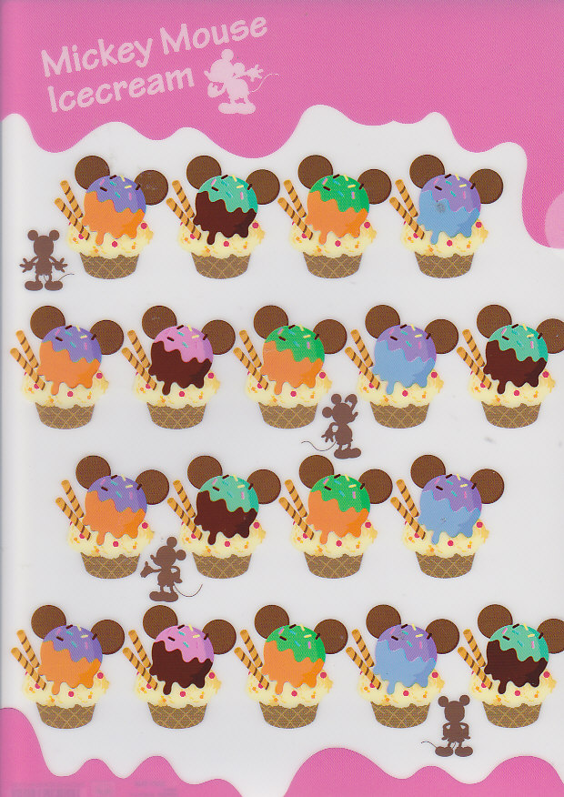 クリアファイル(1面)ミッキーマウス