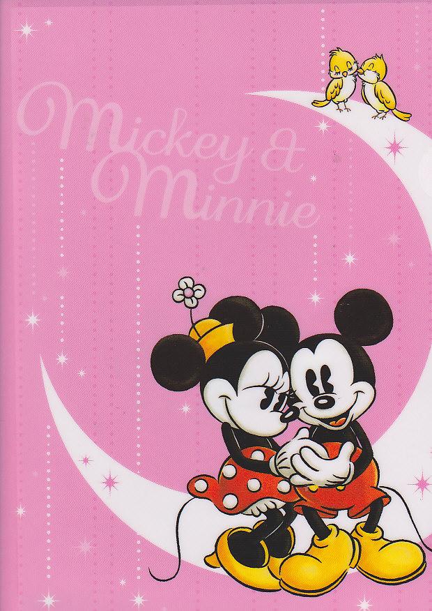 クリアファイル(1面)ミッキーとミニー