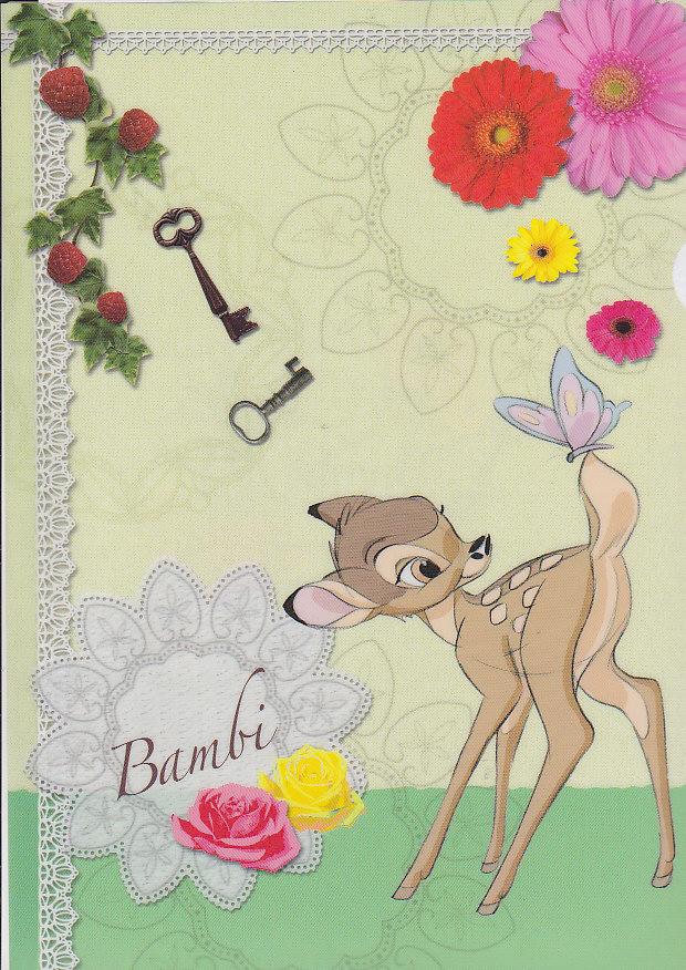 クリアファイル(1面)バンビ
