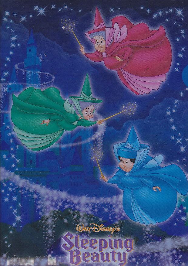 クリアファイル眠れる森の美女 妖精