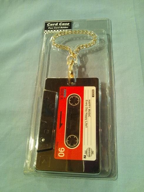カードケース キーホルダータイプ カセット黒