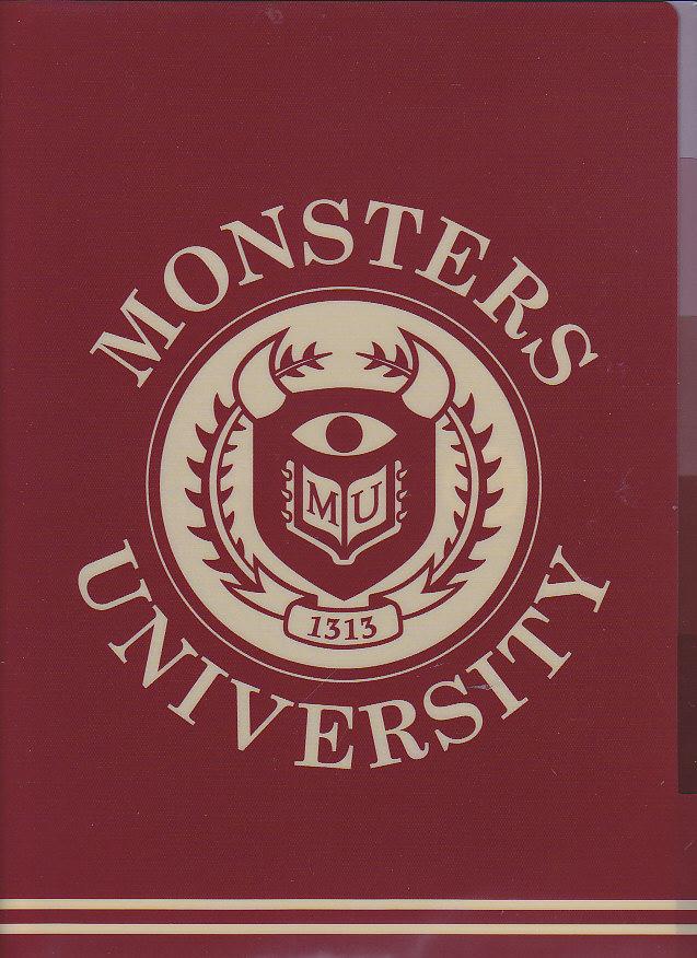 クリアファイル モンスターズユニパーシティ ワインレッド