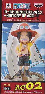 ■ワンピースワールドコレクタブルフィギュア−HISTORY OF ACE-■単品 AC2エース笑顔