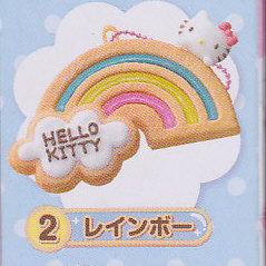 ☆ハローキティ透明クッキーマスコット■単品 レインボー