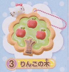 ☆ハローキティ透明クッキーマスコット■単品 りんごの木