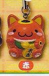 ■おみくじ招き猫すとらっぷニャ■単品 赤/末吉