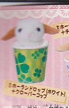 すっぽりコップウサギぬいぐるみ■単品 ホーランドロップ/ホワイト