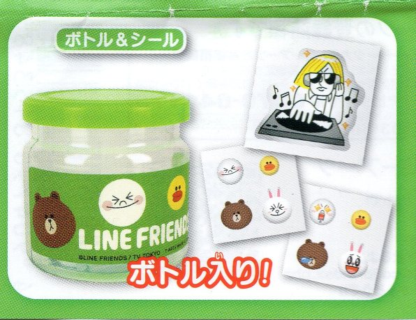 ◇LINE FRIENDS グッズコレクション■単品 ボトル&シール